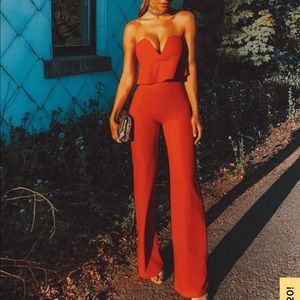 Power of Love Red Strapless Jumpsuit